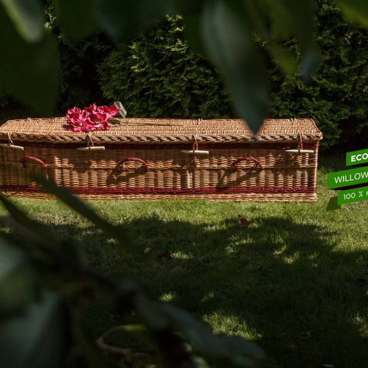 Biodegradable Wicker Casket,